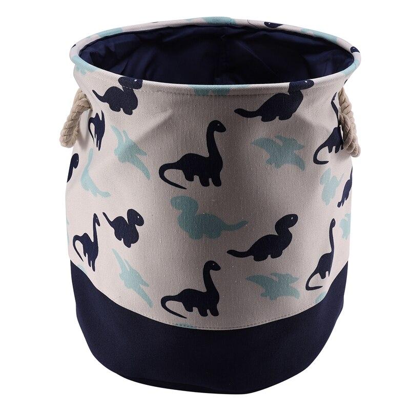 Best Dinosaur Cartoon Canvas Storage Basket For Toys Child Folding Laundry Basket Dirty Clothes Organizer