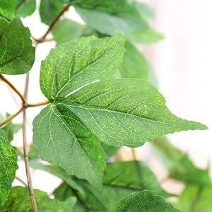Image 5 - 180cm Künstliche Kunststoff Pflanzen Ivy Maple leaf garland baum Gefälschte Herbst blätter Rattan Hängenden Reben für Hochzeit Hause Wand decor