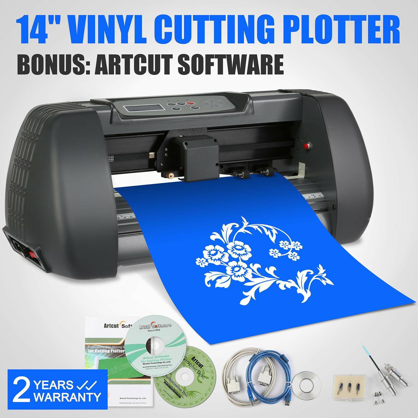 Automatic Vinyl Cutting Plotter 14 Inch 375MM Cutter Plotter USB Port 3 Blade Cutter