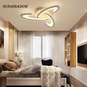 Image 5 - Beyaz led tavan ışık Modern ev avize tavan lambası oturma odası yatak odası için yemek odası LED parlaklık tavan Led armatür