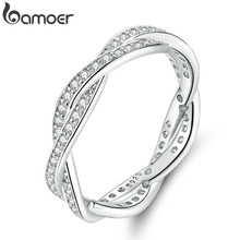 925 Silver Plated Finger Ring with 14K Gold Heart Charm for Women Wedding Luxury Jewelry  PA7208