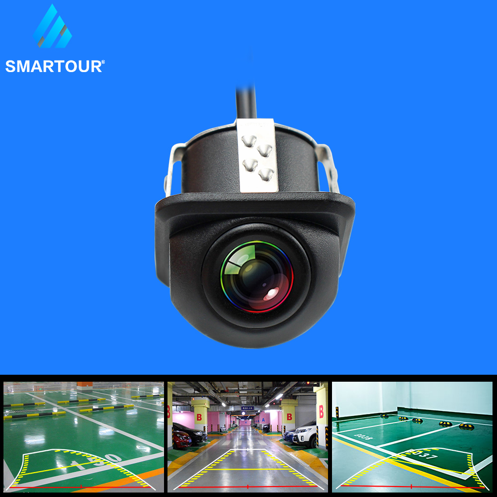 Smartour Dynamic Trajectory Tracks Night vision ccd hd color waterproof Car Rear View Parking Camera IP67 Reverse backup camera