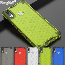 Honeycomb Pattern Hybrid TPU + PC Armor Case For Huawei Y6 Y7 2019 Prime Y9 Clear Shockproof Phone Back Cover