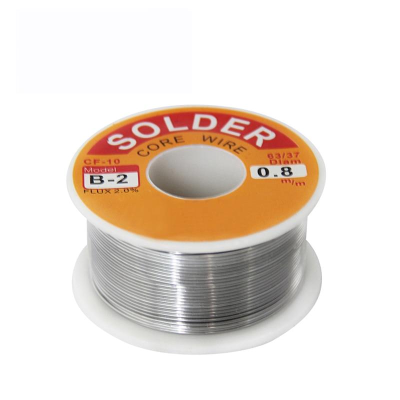 1PCS (B-2) Welding Iron Wire Reel 100g/3.5oz FLUX 2.0% 0.6 0.8 1.0 1.2 1.5 2.0mm 63/37  Tin Lead Line Rosin Core Flux Solder