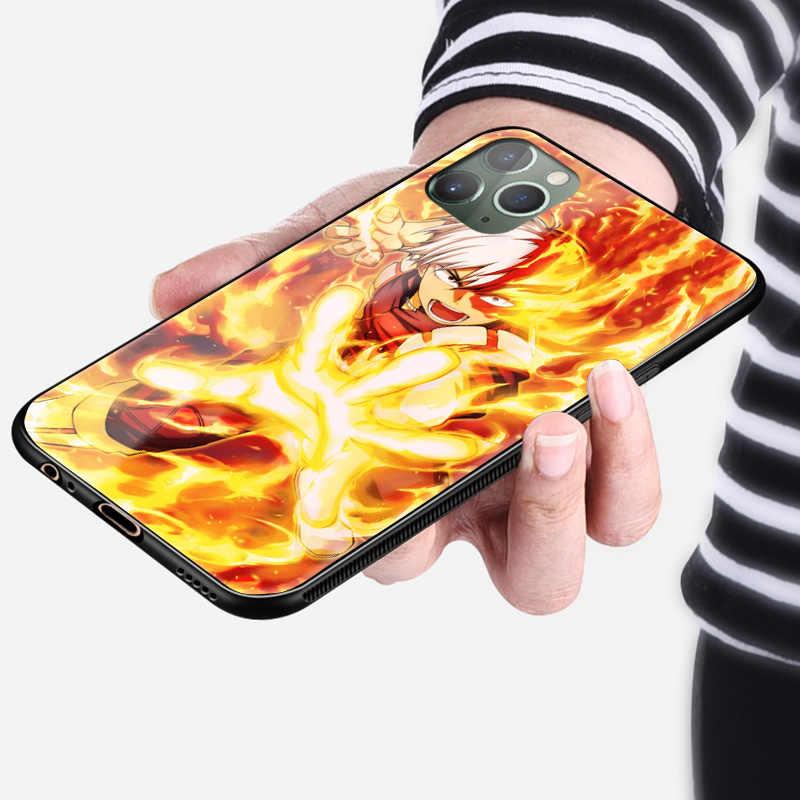 Shoto Todoroki Mijn Hero Academia Zachte Siliconen Glas Telefoon Case Cover Shell Voor Iphone 6S 7 8 Plus X xr Xs 11 12 Mini Pro Max
