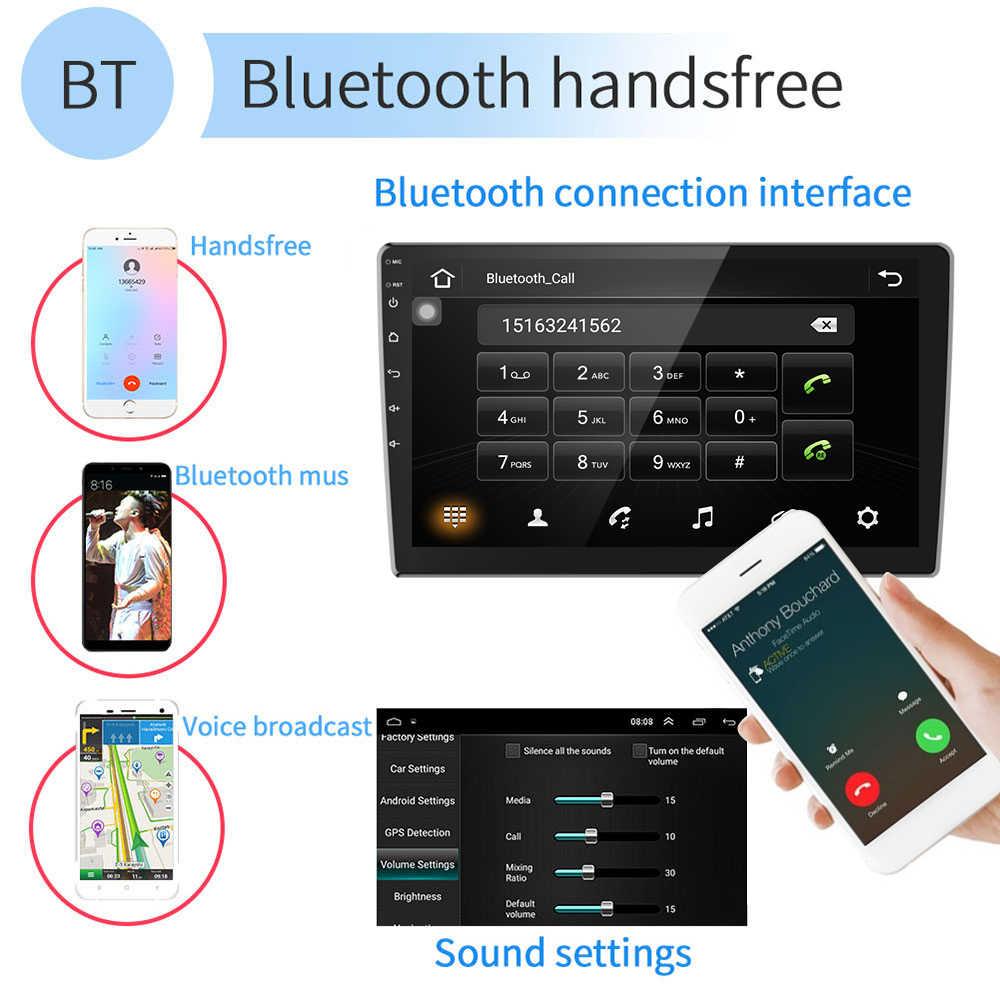 """AMPrime 9 """"Android radio de coche 2 Din reproductor Multimedia navegación GPS estéreo para coche WIFI Bluetooth Video Player con cámara de visión trasera"""