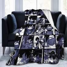 Cobertores e joga meu herói academia collage anime dabi velo flanela lance cobertor leve ultra-macio cobertor de cama quente caber