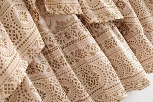 Image 4 - שיק היפי נשים מדבר פרחוני מודפס שרוך אלסטי מותן בוהמי מקסי חצאיות גבירותיי ריון סימטרי boho חצאית