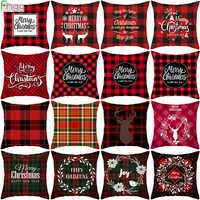 Weihnachten Kissen Abdeckungen Frohe Weihnachten Dekorationen für Home Noel Weihnachten Geschenke Navidad 2019 Weihnachten Cristmas DecorNew Jahr 2020