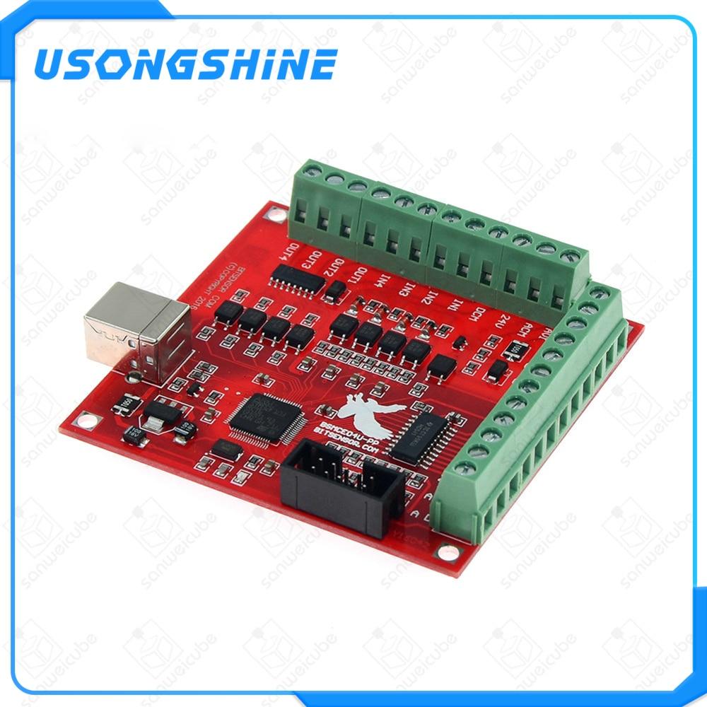 1 pièces CNC USB MACH3 100Khz carte de rupture 4 axes Interface pilote contrôleur de mouvement CNC USB MACH3 100Khz carte de rupture 4 axes dans