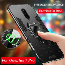 360 Full Hybrid Armor Phone Case For Oneplus 7 7 Pro Cases Finger Ring Car Stand Hard PC Silicone TPU Cover One plus 6T Case цена