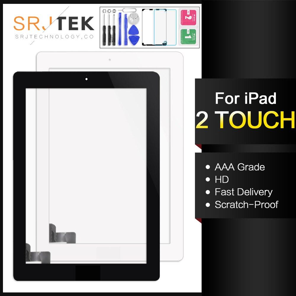 For IPad 2 Digitizer IPad2 Screen Touch A1395 Digizer A1396 A1397 Touch Digitizer Sensor Glass Panel Frame Bezel