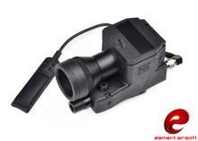 Z TAC 요소 ir 레이저 빨간색 손전등 전술 led 빛 q5 전투 방수 손전등 ex214 bk