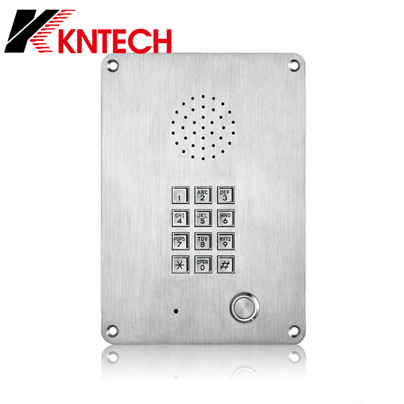 Armored Swivel Phone Prison Robust aluminium Intercom Hands Free IP Version <font><b>SUS</b></font> <font><b>304</b></font> Phone Anti-Suicide KNZD-06 for Mrteo, LRT image