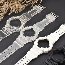 цена на Silicone Case Watchband for Casio G-Shock GA-100 GA-110 GA-120 GD-100 GD-110 GD-120 GAX-100 Rubber Sport Men Bracelet Strap Band