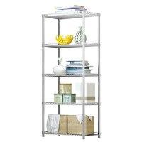 5 Layers Storage Rack Kitchen Organizer Storage Holder Shelf Bathroom Accessories Metal Storage Rack Bathroom Laundry Organizer