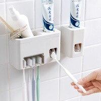 1 Набор Автоматический Диспенсер для зубной пасты с держателем для зубной щетки для дома и ванной комнаты липкий соковыжималка для зубной п...