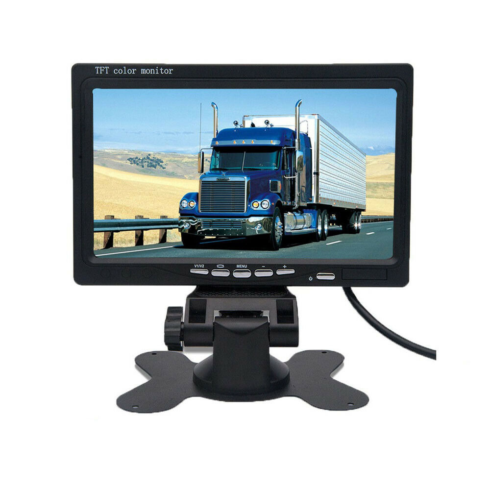 Wired-Camera Monitors Car-Rearview-Mirror 800x480-Screen 7inch LCD TFT for Support DVD title=