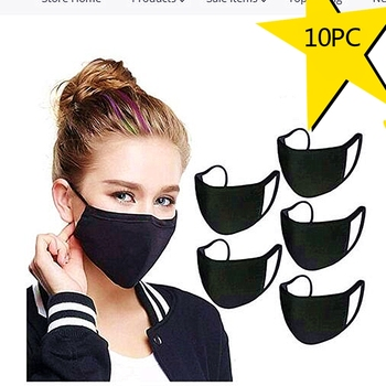 10PC Adult Cotton Scarf For Man And Woman Masque Lavable Scarf Halloween Cosplay Mask Mascherine For Germ Protect Mascarillas image