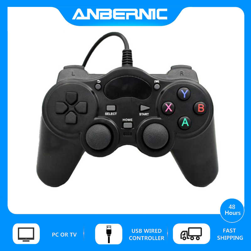 ANBERNIC USB Wired Controller Gamepad Android 360 Joystick Per Sony PS3 Xinput PC Win7 Retro Game RG350 RG350M XPro Video lettore