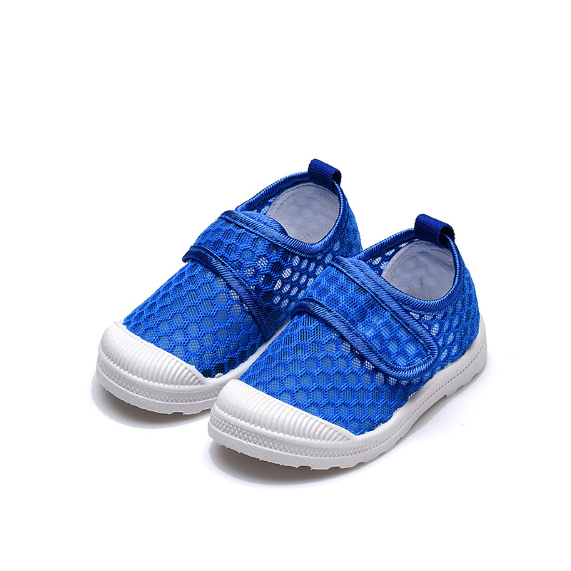 Children's Summer Shoes Kids Half Sandals Air Mesh New Fabric Candy Color Breathable Baby Big Boy Girl Summer Shoes 21-30 Soft
