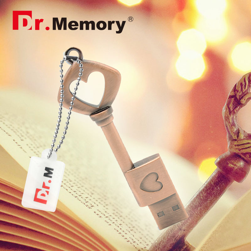 Metal USB Flash Drive Love Key Gifts For Lover 4GB 8GB 16GB 32GB 64GB 128GB Pendrive USB Pen Drive|USB Flash Drives| |  - title=