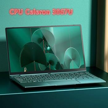 14 Inch Pink Laptop Cute Notebook Computer Girls Core I7 or Celeron 3867U Ultra-Thin Portable Business Gaming School Green - Green, 8G 128G SDD