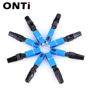 Image 5 - Onti 200 pces sc upc único modo de fibra óptica conector rápido sc apc ftth sc conector rápido adaptador sc conjunto campo