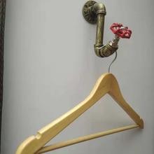 1 ud. De perchas para abrigos y túnicas de estilo Industrial Vintage de hierro para montaje en la pared con tornillos de gran calidad