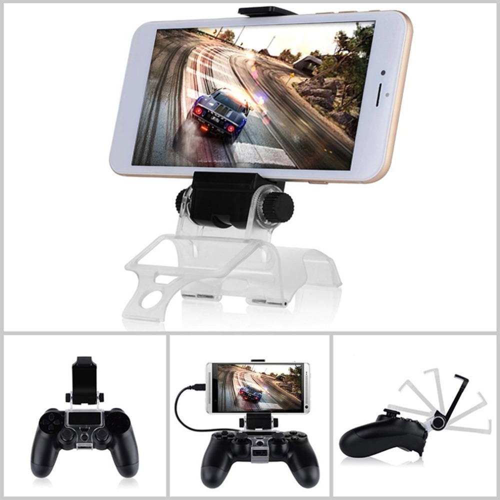Game Controller Gamepad Holder Clip Mount Cradle Extendable Mobile Phone Stand Clamp With OTG Cable For Sony PlayStation 4 PS4