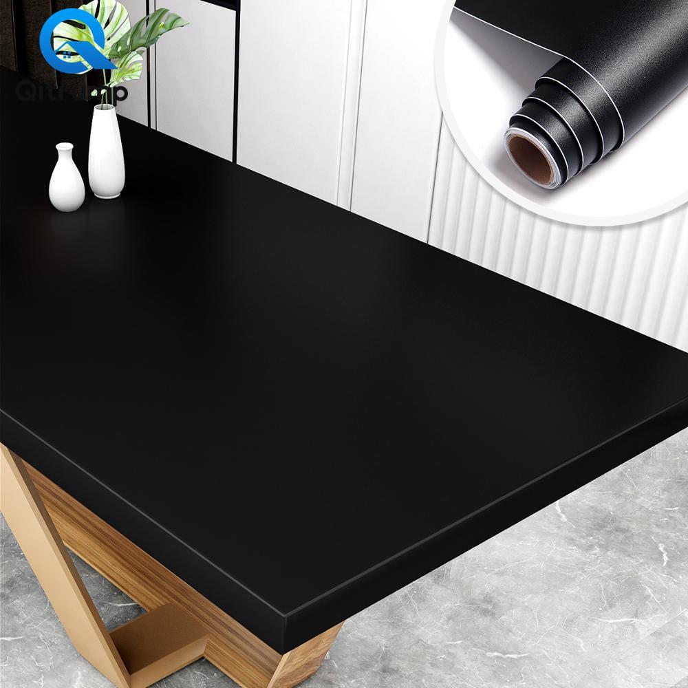 Self adhesive Waterproof Wallpaper PVC Solid Color for Living Room Kids Bedroom Kitchen Furniture Desktop Home Decor Wallsticker