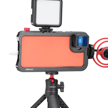 Ulanzi Vlog 금속 케이지 케이스 픽셀 4 XL 확장 차가운 신발 LED 라이트 마이크 수직 촬영 케이스 커버