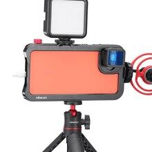 Ulanzi Vlog étui à Cage en métal pour Pixel 4 XL étendre la chaussure froide pour Microphone de lumière LED