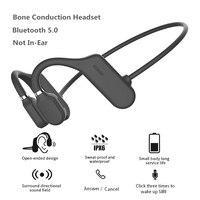 2020 nuove cuffie a conduzione ossea Bluetooth 5.0 cuffie senza fili non In-Ear auricolari sportivi impermeabili resistenti al sudore auricolari 18g