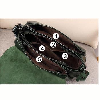 Shell Genuine Leather Crossbody Bag 2