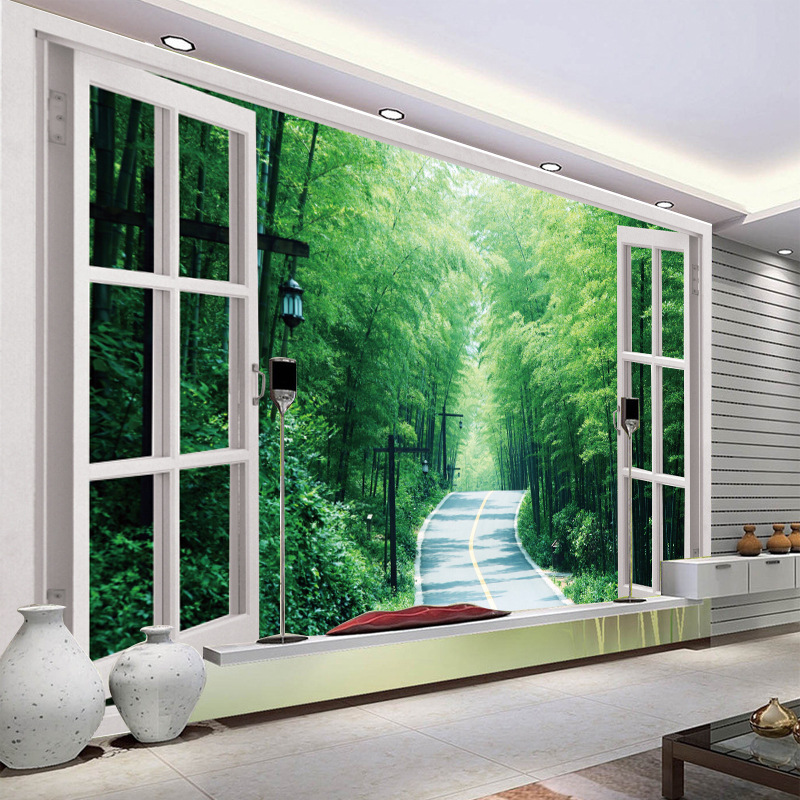3D Jia Chuang Bamboo Scenery TV Background Wallpaper Sofa Bedroom Bedside Film And Television Wall Cloth Wallpaper