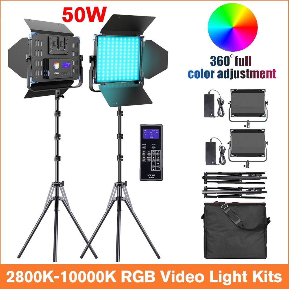 Sokani X50 RGB Led lumière vidéo photographie éclairage 2800K-10000K Studio Photo/lumières/LED panneau lumineux/pour Photos/pour la photographie