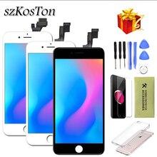 Aaa iphone 5 5s 5c 6 6 プラスディスプレイ lcd タッチスクリーンデジタイザアセンブリの交換 iphone 6 画面 + 強化ガラス + ツール