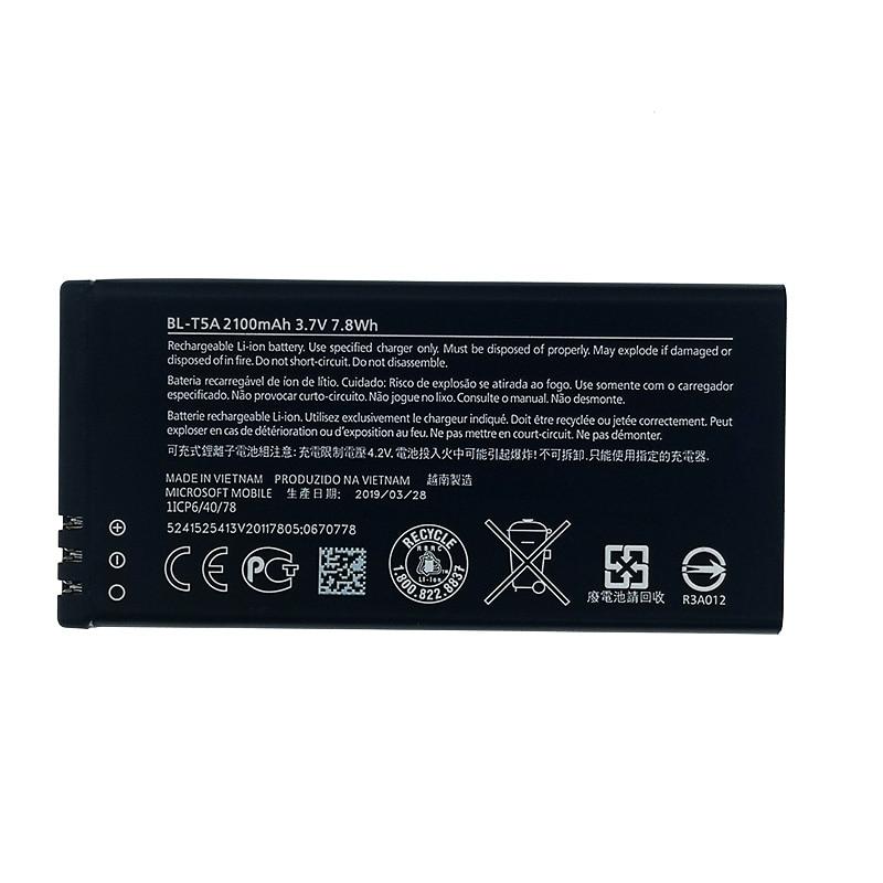 100% Original BL-T5A 2100mAh Battery For Nokia Microsoft Lumia 550 730 735 738 RM1038 RM1040 New produce High quality battery(China)