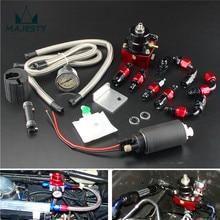 Регулируемый регулятор давления топлива и 255 LPH комплект топливного насоса подходит для DSM GTI EVO