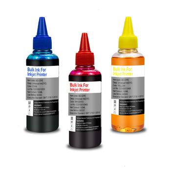 3 kolorowy atrament zestaw uzupełniający dla HP 21 22 301 302 304 121 122 123 650 652 300 140 141 350 351 343 338 XL wkład drukarki atrament barwnikowy tanie i dobre opinie QSYRAINBOW CN (pochodzenie) New Version 100ml Universal refill dye ink Zestaw do napełniania atramentem Ink refill kit