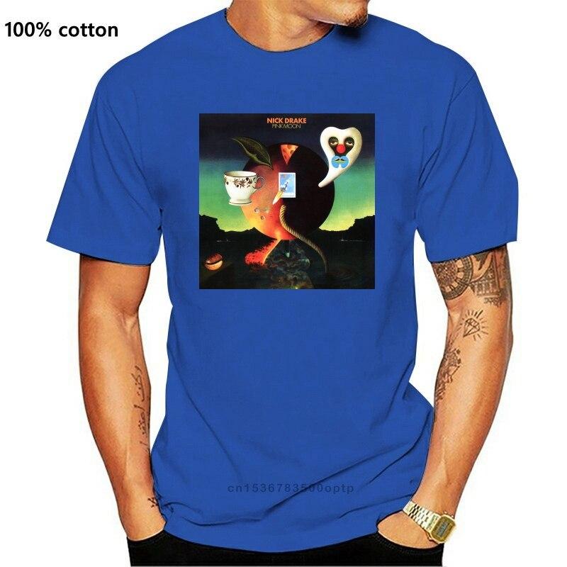Nick Drake pembe ay şarkıcı ve müzisyen erkek siyah beyaz tişört boyutu S-3Xl Hip-Hop Tee gömlek