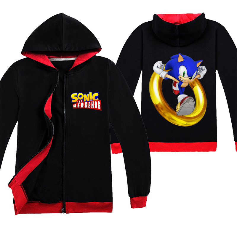 Clothing Suit For Boys Sonic The Hedgehog Jojo Siwa Black Shirts Hooded Outwears Long Sleeve Boys Clothing Casual Tracksuit T Shirts Aliexpress