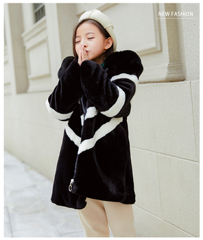 Girl's Winter Imitation big Fur Coat 2020 Girls Thick Fluff Warm Coat Children Baby Clothes Kid Thick Plus Velvet Coat Wholesale