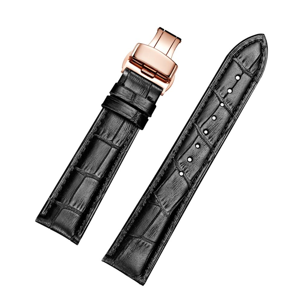Watchband Soft Calf Genuine Leather Watchband 18mm 19mm 20mm 21mm 22mm 23mm 24mm Leather Watch Band  for Accessories Wristband