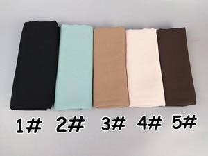 Image 3 - Foulard en mousseline de soie unie, 80 couleurs, châles de couleur unie, hijab populaire, écharpes musulmanes populaires, 10 pièces/lot