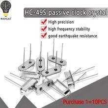 HC-49S oscilador de cristal kit eletrônico ressonador cerâmica quartzo ressonador hc-49 11.0592 mhz 12mhz 4 6 8 12 20 mhz 11.0592 m