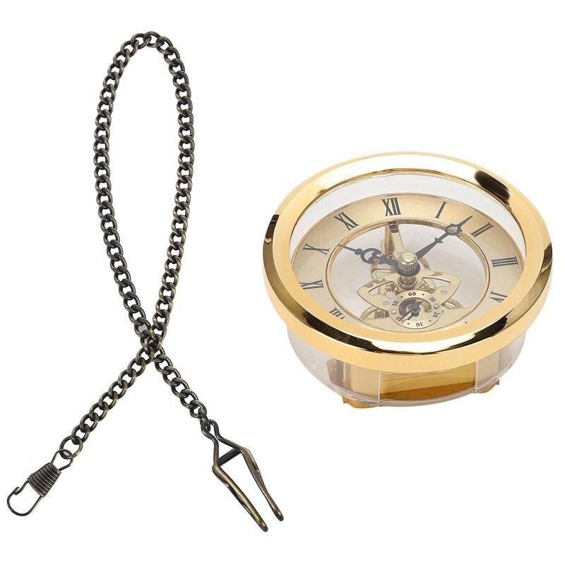 embutido relógio inserção transparente diy