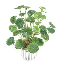 37cm18 Kopf Grün Künstliche Kleine Lotus Blatt Kunststoff Pflanze Zweig Indoor Bonsai Kupfer Geld Blatt Haufen Home Hotel Vase Decorat