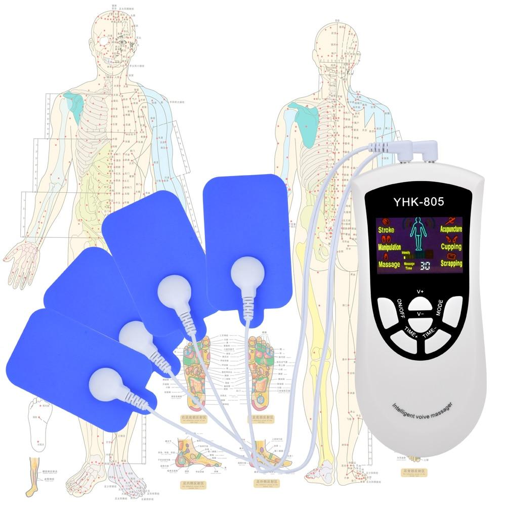 Máquina de terapia de decenas eléctrica de 6 modos para alivio del dolor, masaje de pulso EMS, estimulación muscular, Electroestimulador de voz inteligente|Tratamientos de relajación| - AliExpress